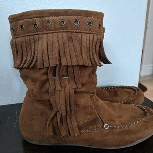 Short Mocassin Style Boots